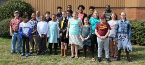 Northampton County 4-H members that participated in District Activity Day