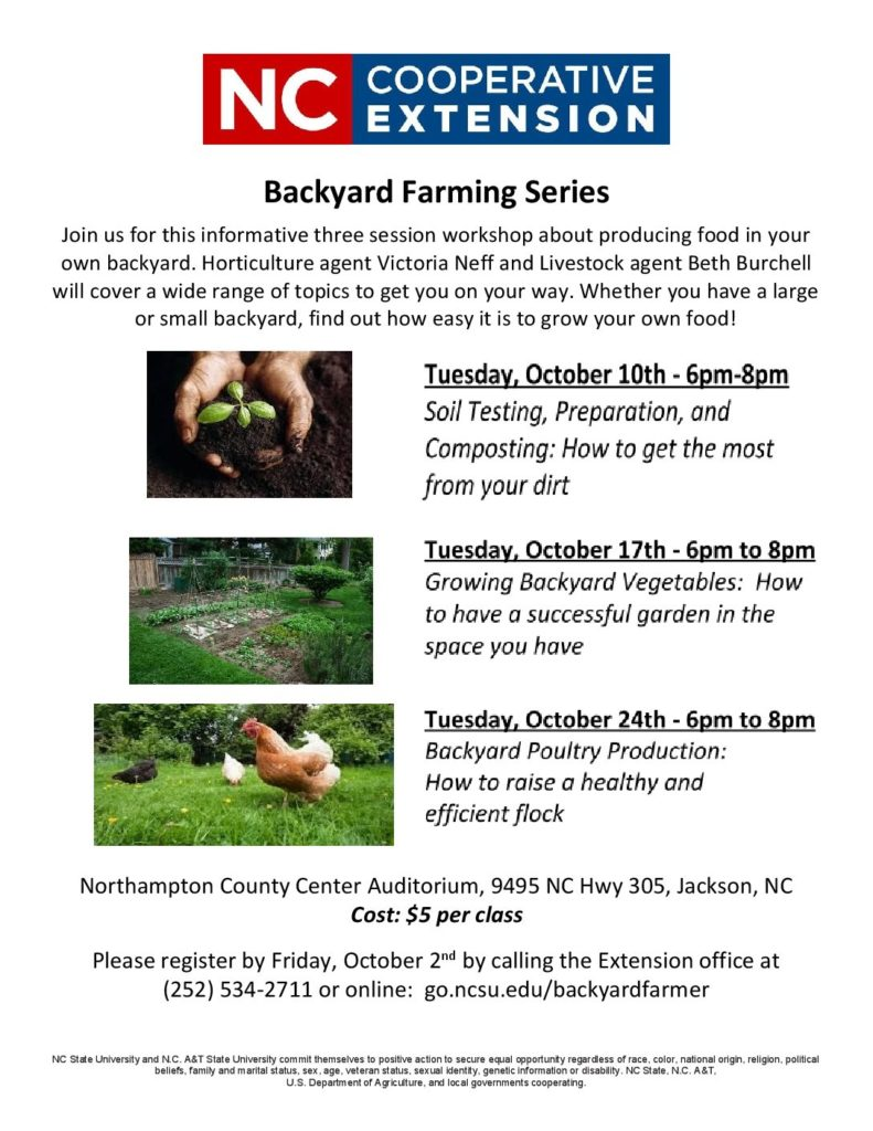 calling all backyard farmers north carolina cooperative extension