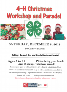 Cover photo for 4-H Christmas Workshops and Parade