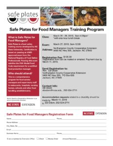 Cover photo for Safe Plates for Food Managers Training
