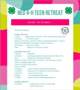 Teen Retreat agenda