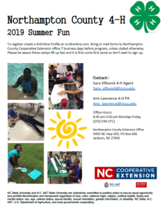 Cover photo for 2019 Northampton County Summer Fun