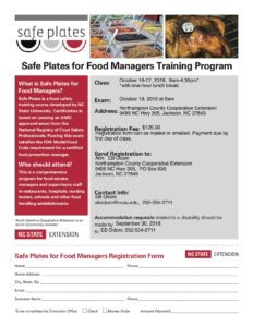Cover photo for Safe Plates for Food Managers Training Program