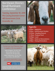 Cover photo for Northeast District Small Ruminant Conference