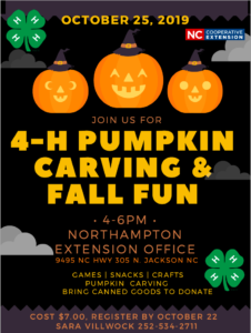 Cover photo for Northampton County 4-H Pumpkin Carving & Fall Fun