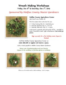 Cover photo for 2019 Wreath Making Workshop