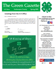 Cover photo for 4-H Spring Newsletter 2020