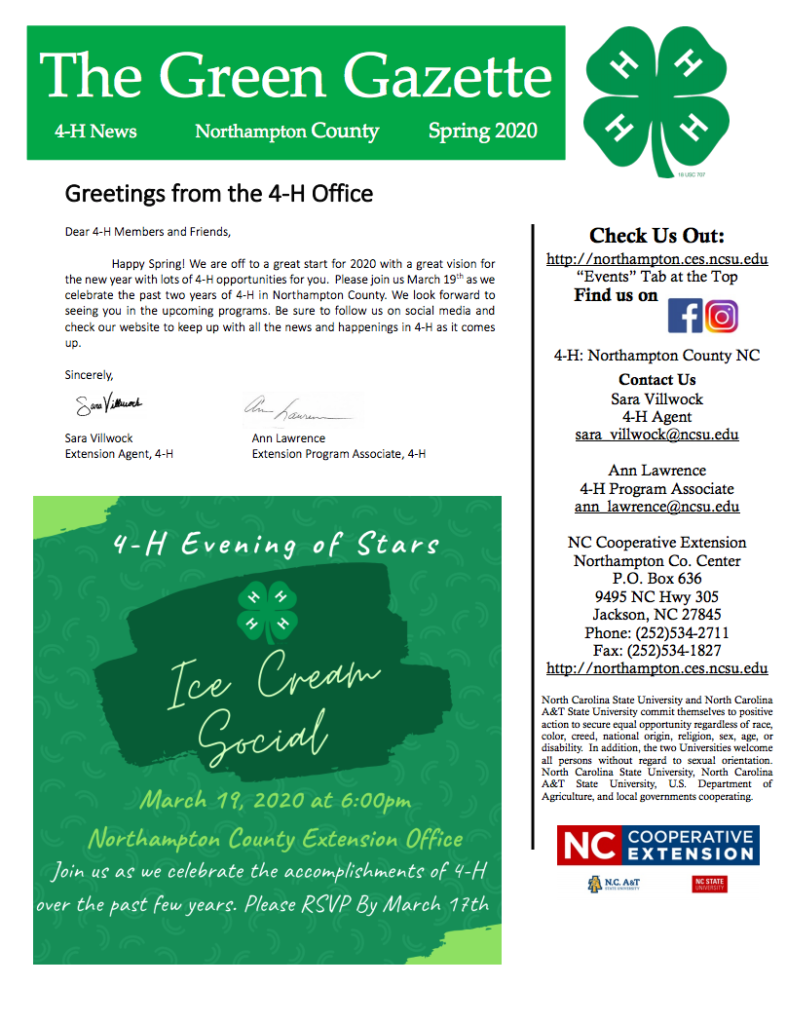The Green Gazette flyer image