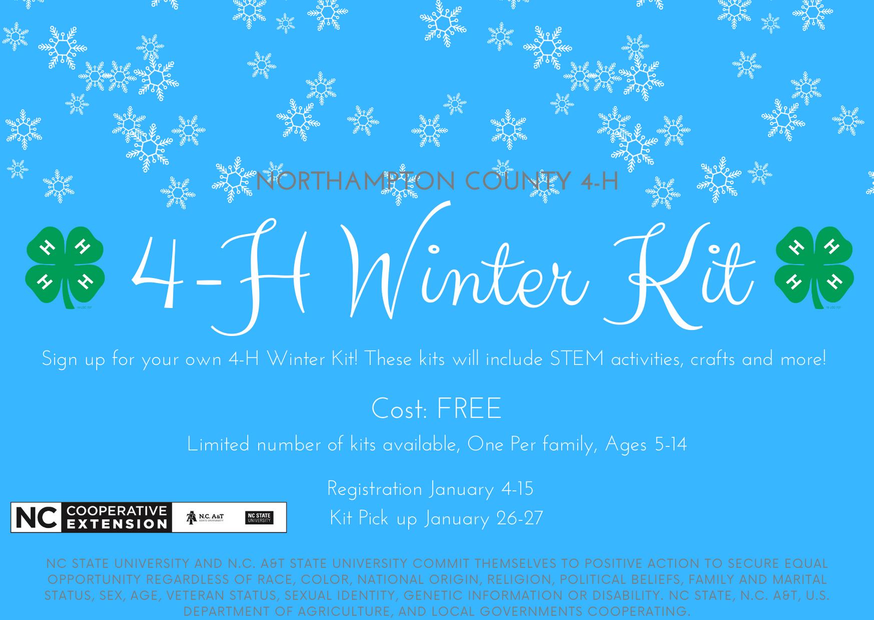 4-H Winter Kit flyer