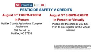 Cover photo for Pesticide Safety v Credits August 3rd